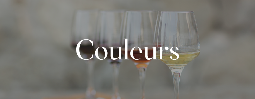 Classement par couleur de notre sélection de vins